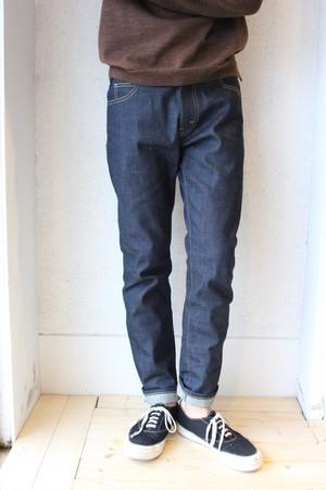 Niche.(ニッチ) / Gaucho Jeans(ガウチョジーンズ)ノーウォッシュ 耳付き