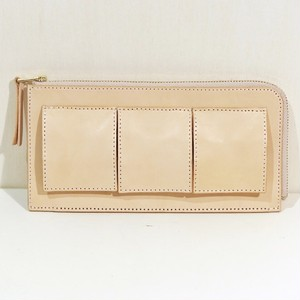 nejicommu / MATTER - LONG ZIP WALLET NATURAL
