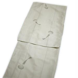 夏用 洗えるきもの(縦絽:グレー系に風鈴柄:L)着物 レディース 女性 プレタ 洗える 小紋 仕立て上がり 単品 和装 和服 [011091]