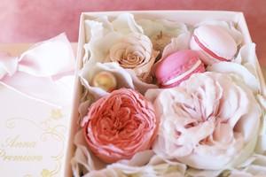 アロマストーンボックスフラワー/マカロン SS  ストロベリーピンク(Box Flower Strawberry Pink SS)