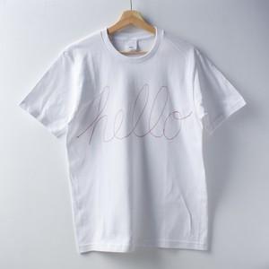 刺繡Tシャツ「COFFEE OR TEE」_hello_Sサイズ
