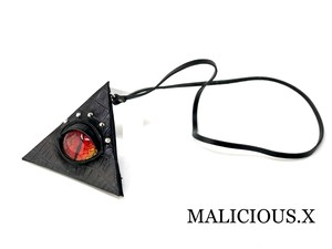 reptelis(D)eye triangle coin case / red × yellow(crocodile)