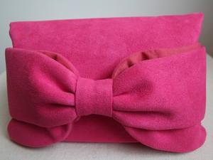 バッグインクラッチSHOKOリボン/ピンク
