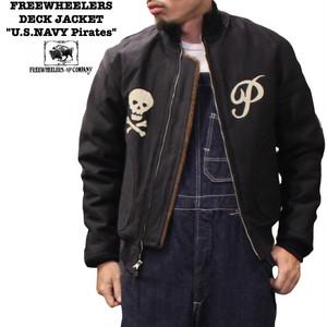 """DECK JACKET """"U.S.NAVY Pirates"""" / FREEWHEELERS フリーホイーラーズ / デッキジャケット"""