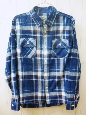 Houston Indigo Check Work Shirt 40261 (ヒューストン インディゴチェック ワークシャツ)