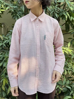 (TOYO) check pattern l/s shirt