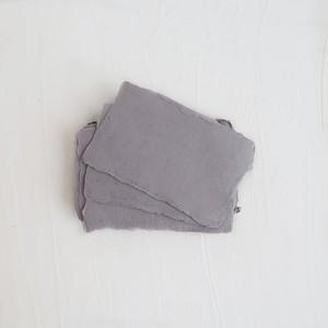 ハンドメイドカード グレー 5枚入り/Place Cards Gray