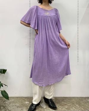 MADE IN GREECE M.DE.SIGOURA glitter embroidery cotton greece one-piece 【M位】
