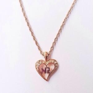 """NINA RICCI"" heart necklace[n-361]"