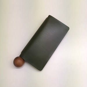 【Building Block】BOOK WALLET in kombu / A=KOMBU