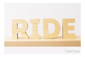RIDE ライドの切り文字 インテリア(ピスト ロードバイク MTB スケート BMX)