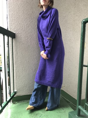 Vintage purple knit dress