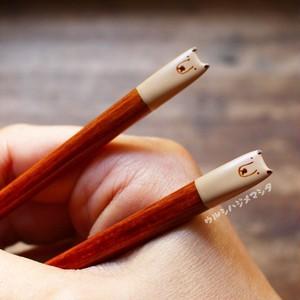 【18cm・子供用】拭き漆の箸(しろくま)/URUSHI CHOPSTICKS(POLAR BEAR)