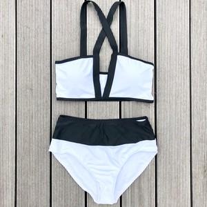 【7/22(日)20時再販スタート‼️】Bikini♡バイカラーフロントクロスビキニ GSB18S037WHT