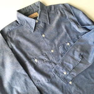 BIG YANK : 70's chambray work shirt (used)