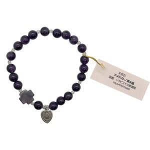 アメジスト 天然石ロザリオブレスレット_c/函館トラピスチヌ修道院 天使園