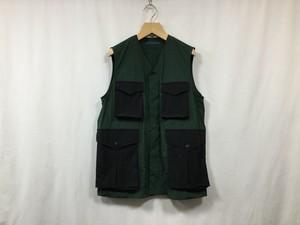 "semoh""2tone nylon vest green"""