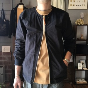 Cotton Nylon Crew Cardigan(Re made in tokyo japan)