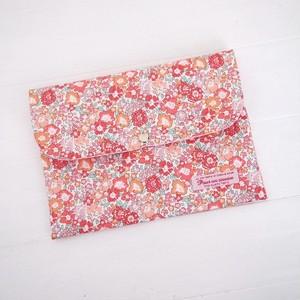 リバティ 母子手帳ケース ミッシェル/オレンジピンク B6サイズ パスポートケース