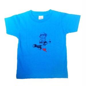 110cm キッズTシャツ ブルー