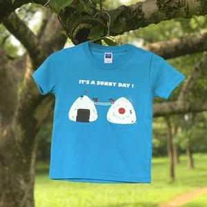 おにぎりTシャツ 青空ブルー・KIDS 110サイズ