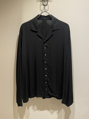 EASY TO WEAR 21SS OPEN COLLAR ETW21−SS OSH002 BLACK イージートゥウェア ブラック