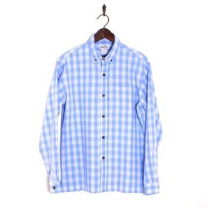 Mountain メンズ / ボタンダウン長袖パラカシャツ / サックスブルー