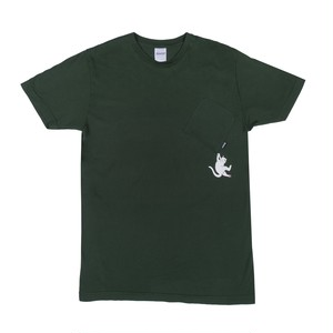 RIPNDIP - Hang In There Pocket Tee (Hunter Green)