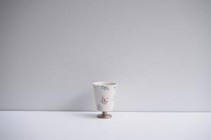 矢田久美子 上絵草花づくしゴブレット型茶杯 ④