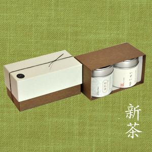 【新茶】小缶2本箱 八十八夜の茶/和紅茶