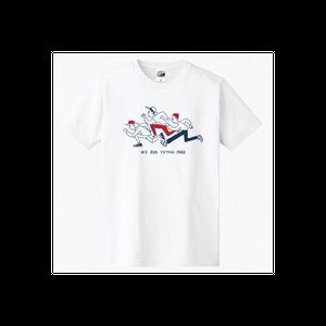 【WE RUN YOYOGI PARK Tシャツ(綿生地)】ホワイト × ネイビー