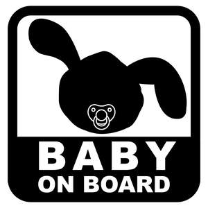 "Dolly's ""BABY ON BOARD"" Magnet Sticker"