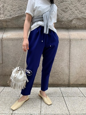 cropped color pants / blue (即納)