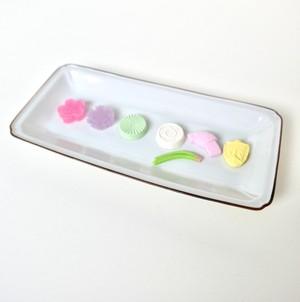 [KR21238 ] 九谷の白 長皿/ Kutani White Long Plate/ Showa Era