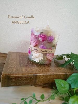 ラナンキュラス(ピンク&ホワイト系)のボタニカルキャンドル(フラワーBOX入り)
