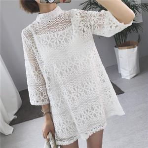 【お取り寄せ商品】High Neck Flower lace dress 5391