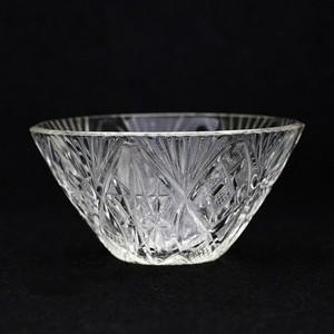 昭和レトロ プレスカット ガラス 小鉢 (075)