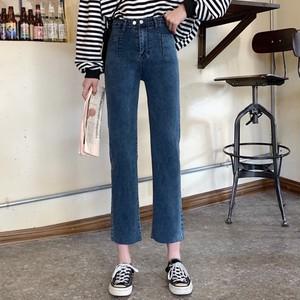 【ボトムス】ファッションハイウエスト韓国系ストレートアンクル丈ジーンズ25702144