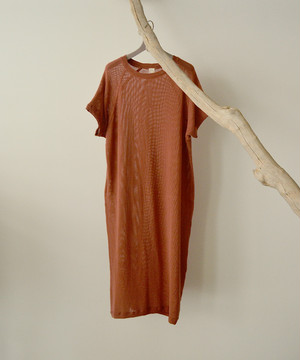 O project  EXTRA LONG TEE MESH CORAL