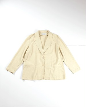 Unconstruction rayon jacket(Ivory)