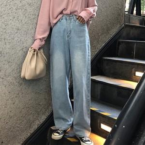 【ボトムス】ファッションストリート系無地シンプルデニムパンツ26561562