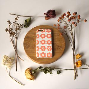 anemone ( coral ) ハードケース型スマホケース【受注生産】★ Lサイズは+400円