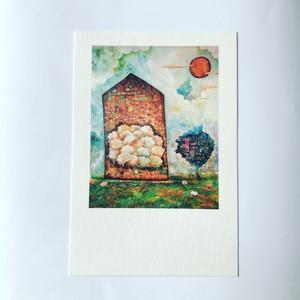 ポストカード「羊の教会」