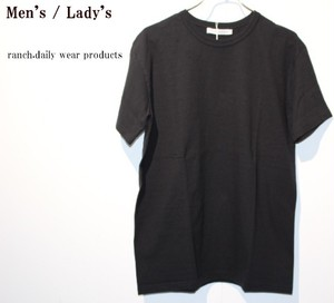 ranch.daily wear products 度詰め天竺半袖クルーネック(BLACK) 【Men's】