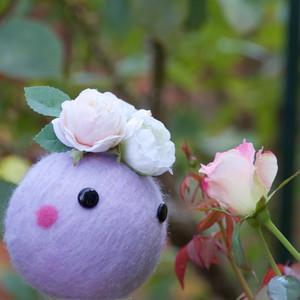 でかころりん・姫(薄い紫/ローズクォーツ入り)
