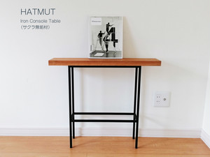 K様オーダー【Iron Console Table bench サクラ】