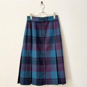 tanfjay 80年代  USA製 チェック柄 フロントボタン スカート 古着 日本L