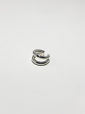 volume double ring silver