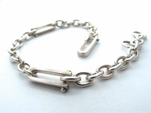 Silver925 3シャックルチェーンブレスレット