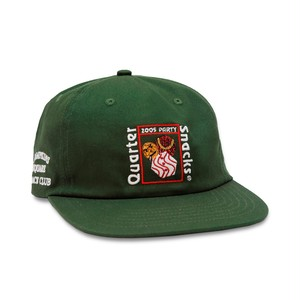 QUARTERSNACKS / PARTY CAP -FOREST GREEN-